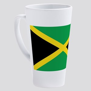 Jamaican Flag 17 oz Latte Mug