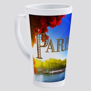 Paris and Eiffel Tower on the Seine. 17 oz Latte M