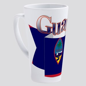 GUam ribbon 17 oz Latte Mug