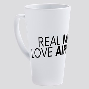 Real Men Love Airsoft Airsoft BBs 17 oz Latte Mug