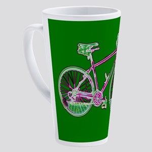 Ditch the Car Ride A Bicycle Green 17 oz Latte Mug