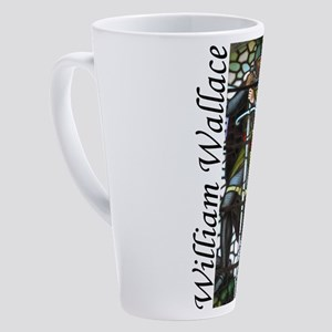 William Wallace Stained Glass.png 17 oz Latte Mug