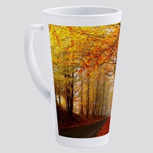 Road At Autumn 17 oz Latte Mug