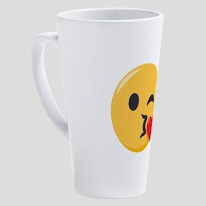 Kissing Emoji 17 oz Latte Mug