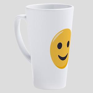 Smiley Face Emoji 17 oz Latte Mug