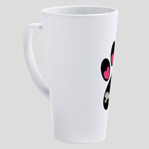 Personalizable Paw Print 17 oz Latte Mug