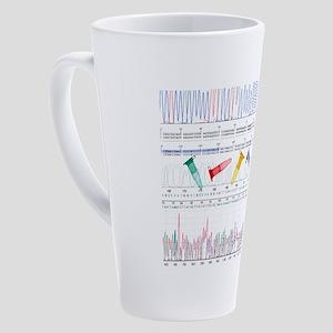 DNA analysis 17 oz Latte Mug