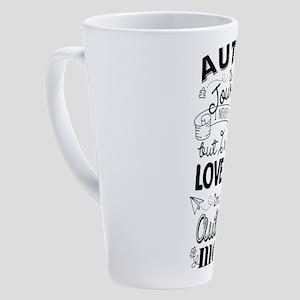 Autism Journey Autism Mom 17 oz Latte Mug
