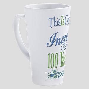 100th Birthday 17 Oz Latte Mug