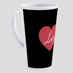I Love Lucy Heart 17 oz Latte Mug