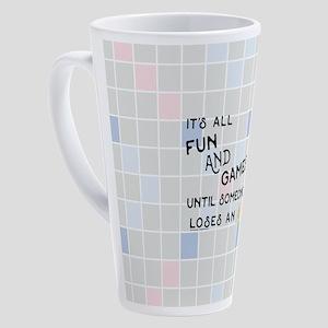 Scrabble All Fun and Games 17 oz Latte Mug