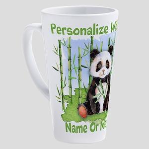 PERSONALIZED Panda With Bamboo 17 oz Latte Mug