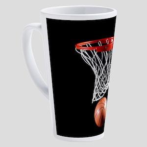 Basketball Point 17 oz Latte Mug
