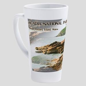 Acadia National Park Coastline 17 oz Latte Mug
