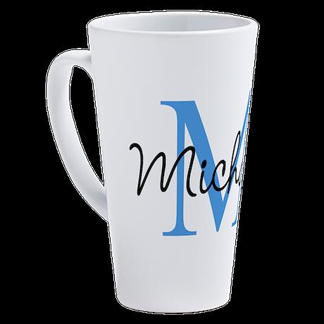 Personalize Iniital, And Name 17 Oz Latte Mug