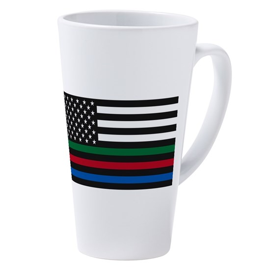 Thin Blue Line - Red, Blue and Green USA Flag