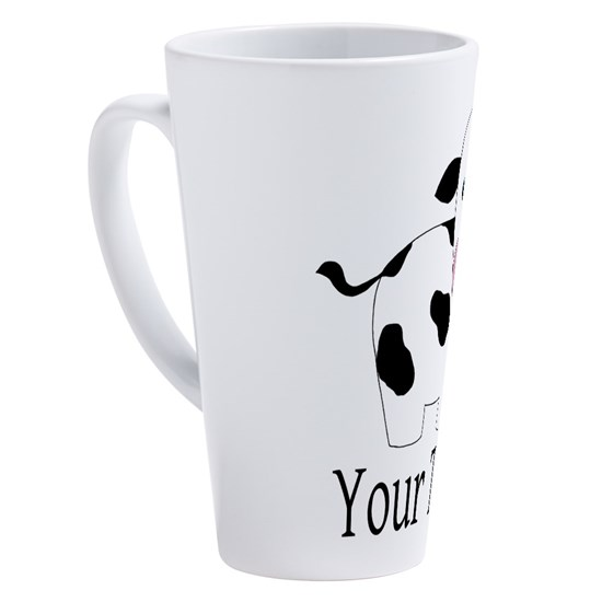 Personalizable Black and White Cow