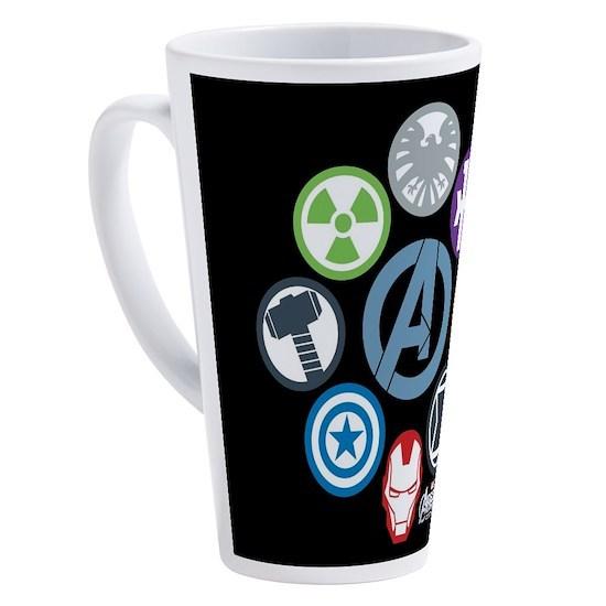 Avengers Assemble Symbols Pillow 17 oz Latte Mug