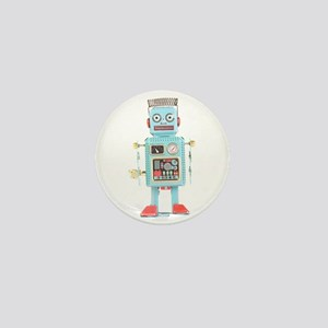 Classic Tin Robot Mini Button