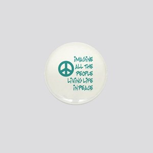 Imagine Peace Mini Button