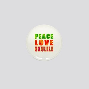Peace Love Ukulele Mini Button