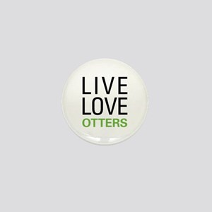 Live Love Otters Mini Button