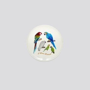 I love Parrots Mini Button