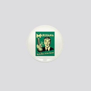 Marijuana Mini Button