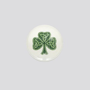 Vintage Trinity Shamrock Mini Button