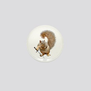Fighting Squirrel Mini Button