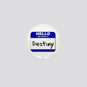 hello my name is destiny Mini Button