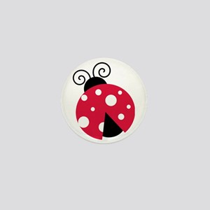 Large Ladybug Mini Button