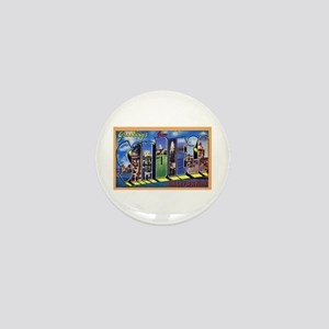 San Diego California Greetings Mini Button