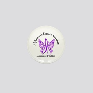 Alzheimer's Disease Butterfly Mini Button
