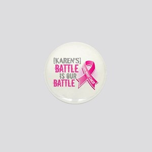 Personalized Breast Cancer Mini Button