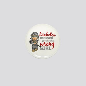 Combat Girl Diabetes Mini Button