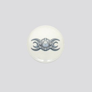 Ornate Wiccan Triple Goddess Mini Button