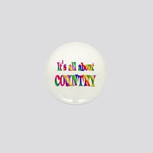 All About Country Mini Button