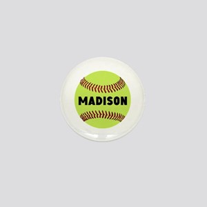Softball Personalized Mini Button
