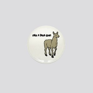 Calm a Llama down Mini Button