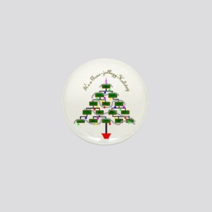Genealogy Christmas Tree Mini Button