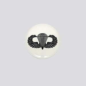 Parachutist -- B-W Mini Button