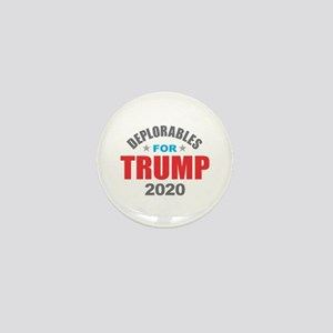 Deplorables for Trump 2020 Mini Button