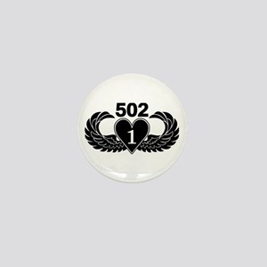 1-502 Black Heart Mini Button