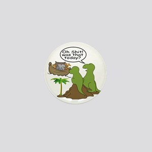 Noah and T-Rex, Funny Mini Button