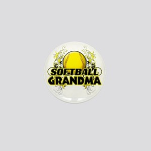 Softball Grandma (cross) Mini Button