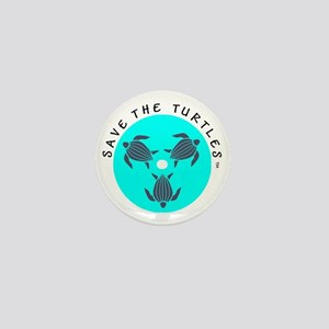 Save the Turtles Blue Logo Mini Button