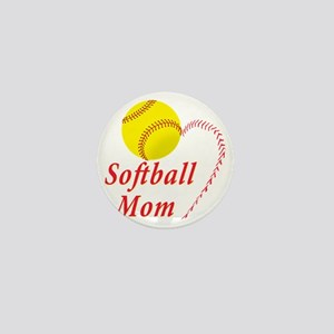 Softball Mom Mini Button