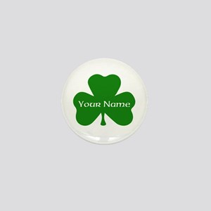 CUSTOM Shamrock with Your Name Mini Button
