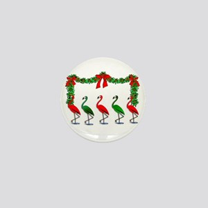 Christmas Flamingos Rockettes Mini Button